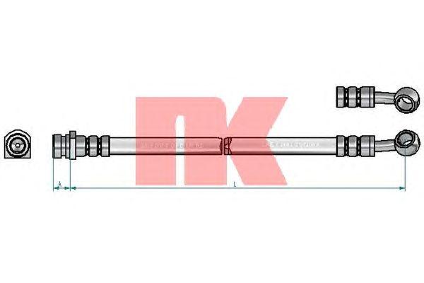 Тормозной шланг NK 853489