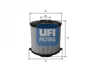 Топливный фильтр UFI 26.058.00