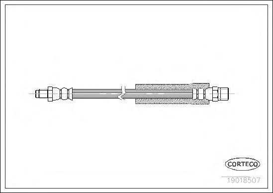Тормозной шланг CORTECO 19018507