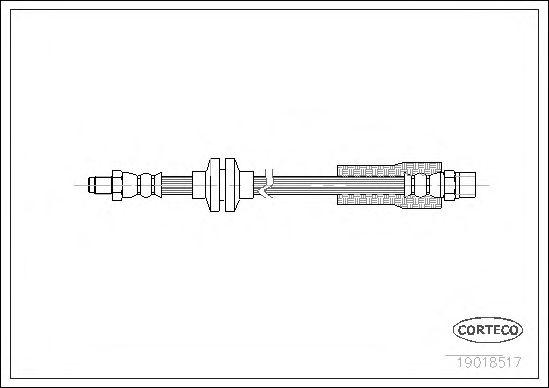 Тормозной шланг CORTECO 19018517