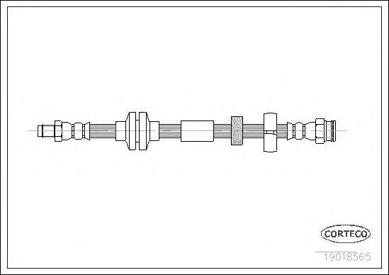 Тормозной шланг CORTECO 19018565