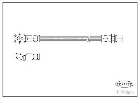 Тормозной шланг CORTECO 19018806