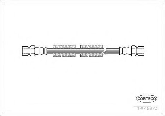 Тормозной шланг CORTECO 19018923