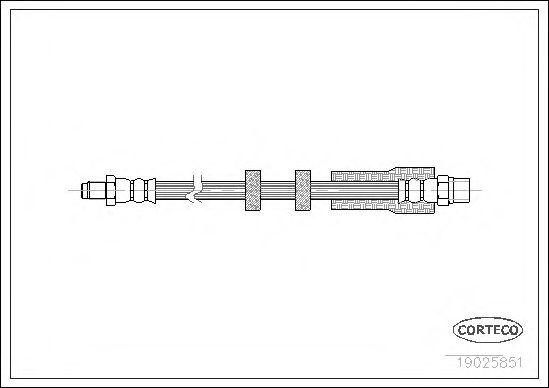 Тормозной шланг CORTECO 19025851