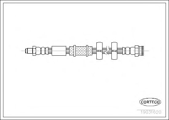Тормозной шланг CORTECO 19031620
