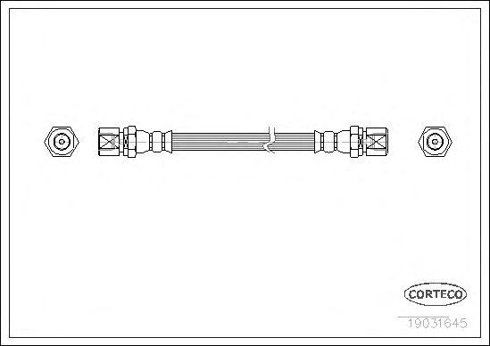 Тормозной шланг CORTECO 19031645