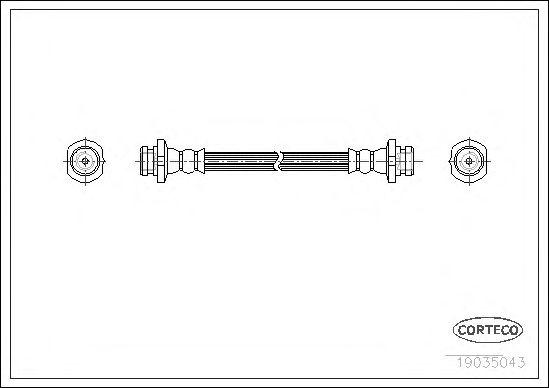 Тормозной шланг CORTECO 19035043