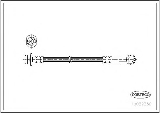 Тормозной шланг CORTECO 19032356