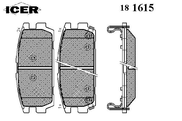Тормозные колодки ICER 181615