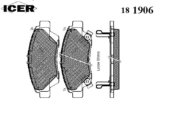 Тормозные колодки ICER 181906
