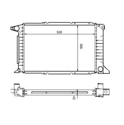 Радиатор, охлаждение двигателя NRF 507374