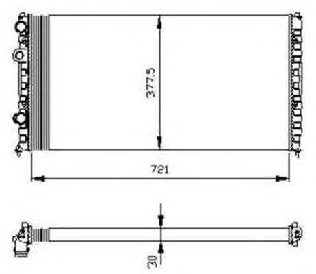 Радиатор, охлаждение двигателя NRF 54696