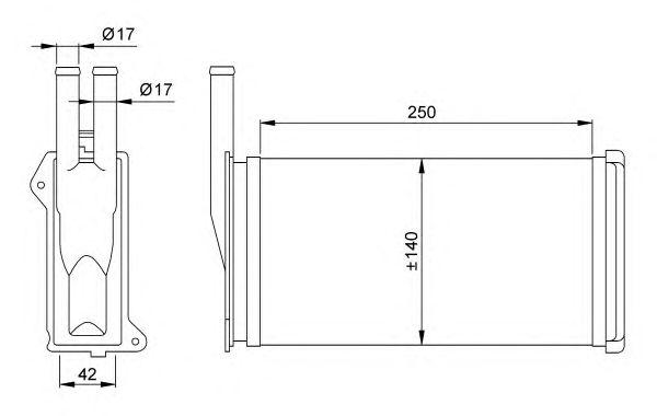 Радиатор отопителя NRF 58638