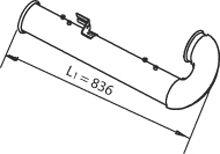 Труба выхлопного газа DINEX 21755