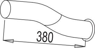 Труба выхлопного газа DINEX 67605