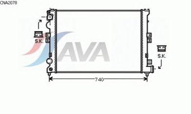 Радиатор, охлаждение двигателя AVA QUALITY COOLING CNA2078
