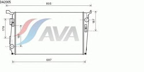 Радиатор, охлаждение двигателя AVA QUALITY COOLING DA2005