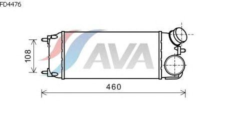 Интеркулер AVA QUALITY COOLING FD4476