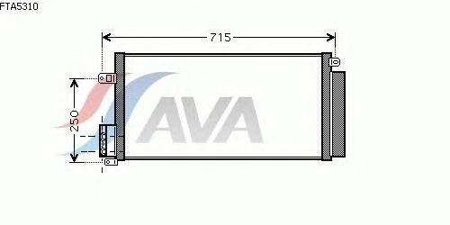 Радиатор кондиционера AVA QUALITY COOLING FTA5310