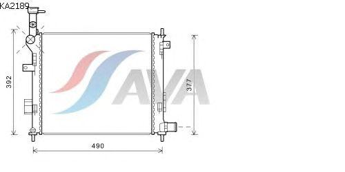 Радиатор, охлаждение двигателя AVA QUALITY COOLING KA2189