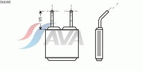 Радиатор отопителя AVA QUALITY COOLING OL6160