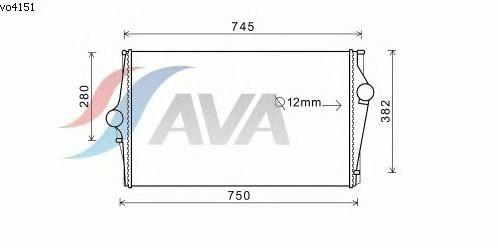 Интеркулер AVA QUALITY COOLING VO4151