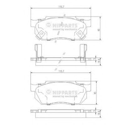 Тормозные колодки NIPPARTS J3604019