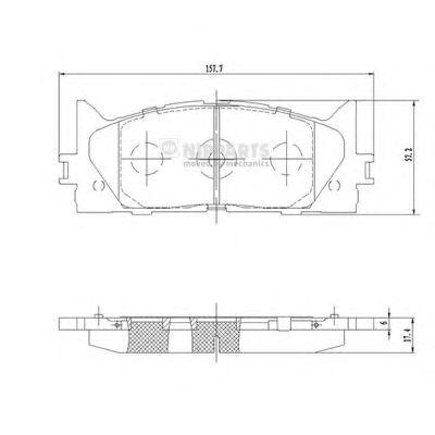 Тормозные колодки NIPPARTS N3602141
