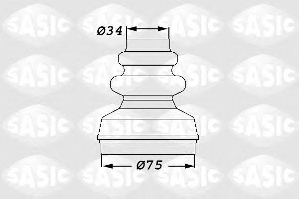 Комплект пыльника ШРУСа SASIC 1900006