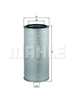 Воздушный фильтр MAHLE ORIGINAL LX 657