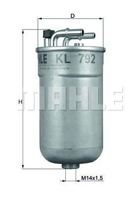 Топливный фильтр MAHLE ORIGINAL KL 792