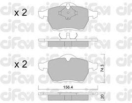 Тормозные колодки CIFAM 822-279-0
