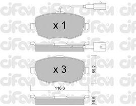 Тормозные колодки CIFAM 822-528-1