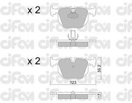 Тормозные колодки CIFAM 822-560-0