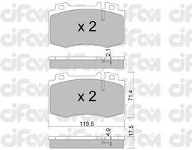 Тормозные колодки CIFAM 822-563-5