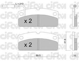 Тормозные колодки CIFAM 822-767-1
