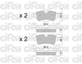Тормозные колодки CIFAM 822-769-0