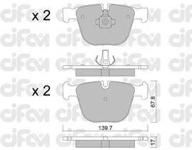 Тормозные колодки CIFAM 822-773-0