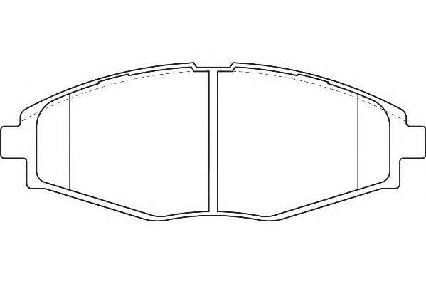 Тормозные колодки WAGNER WBP23241A