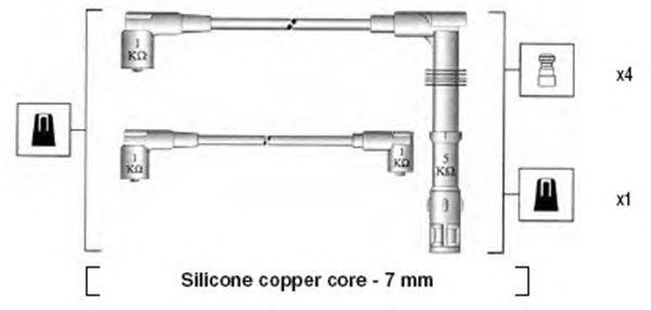 Комплект высоковольтных проводов MAGNETI MARELLI 941055070532