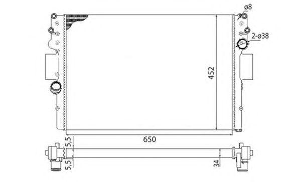 Радиатор, охлаждение двигателя MAGNETI MARELLI 350213016003