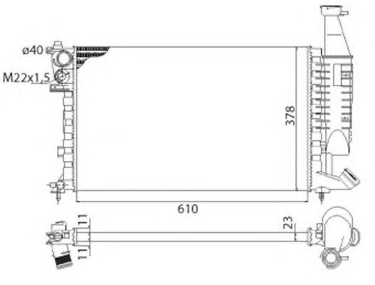Радиатор, охлаждение двигателя MAGNETI MARELLI 350213118003