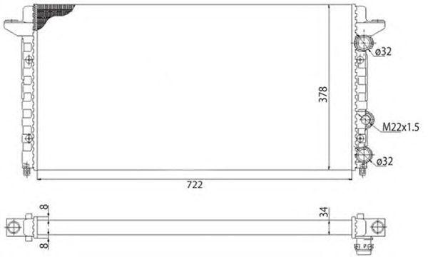 Радиатор, охлаждение двигателя MAGNETI MARELLI 350213502003