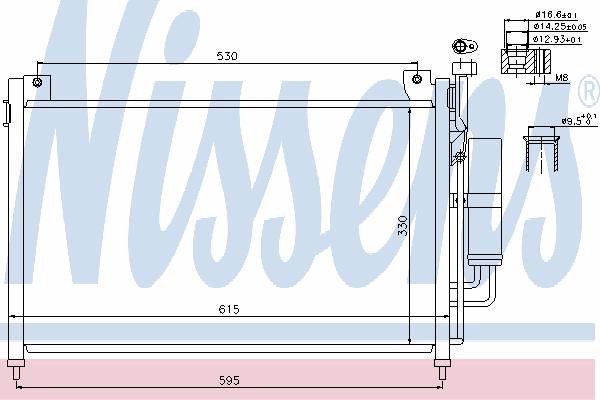 Радиатор кондиционера NISSENS 940033