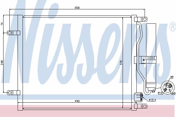 Радиатор кондиционера NISSENS 940069