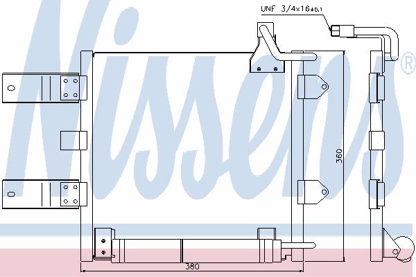 Радиатор кондиционера NISSENS 94446