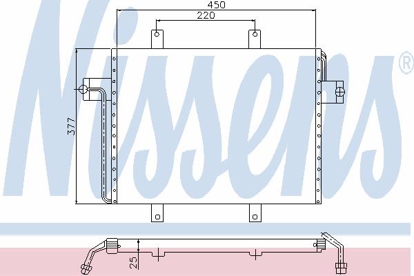 Радиатор кондиционера NISSENS 94237