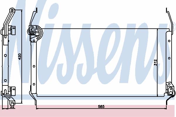 Радиатор кондиционера NISSENS 94195