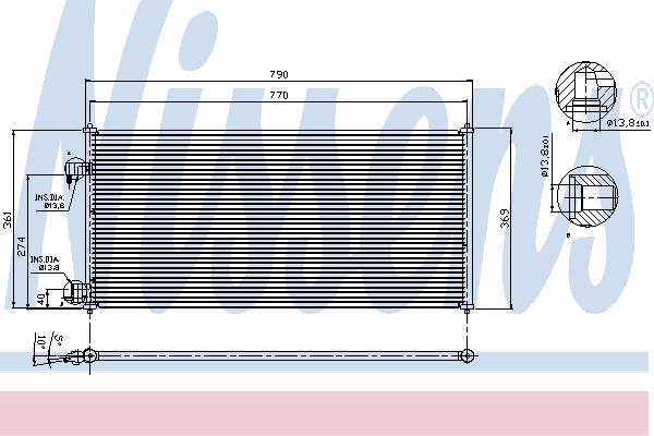 Радиатор кондиционера NISSENS 94664