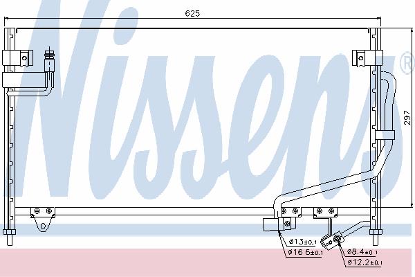 Радиатор кондиционера NISSENS 94687